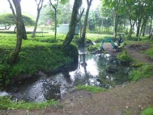 渓流釣り場工事風景
